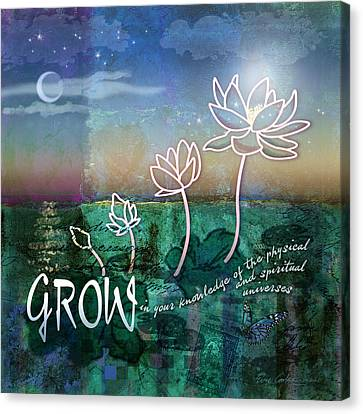 Grow Canvas Print by Evie Cook