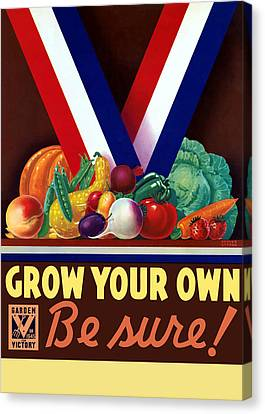 Grow Your Own Victory Garden Canvas Print by War Is Hell Store