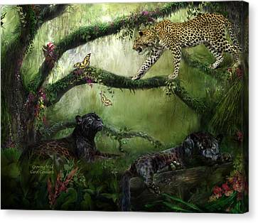 Growing Wild Canvas Print by Carol Cavalaris