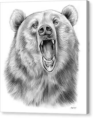 Growling Bear Canvas Print by Greg Joens