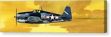Grumman F6f-3 Hellcat Canvas Print by Wilf Hardy