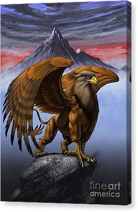 Gryphon Canvas Print by Stanley Morrison