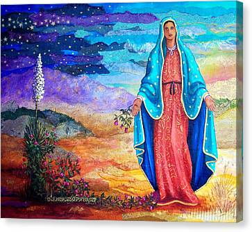 Guadalupe De La Frontera Canvas Print by Candy Mayer