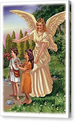 Guardian Angel Canvas Print by Valer Ian