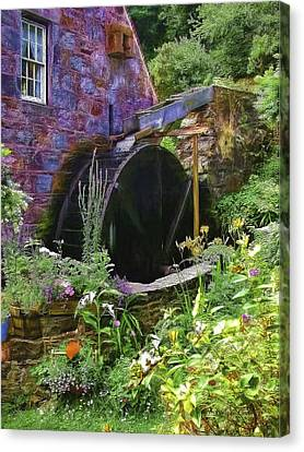 Guernsey Moulin Or Waterwheel Canvas Print by Bellesouth Studio