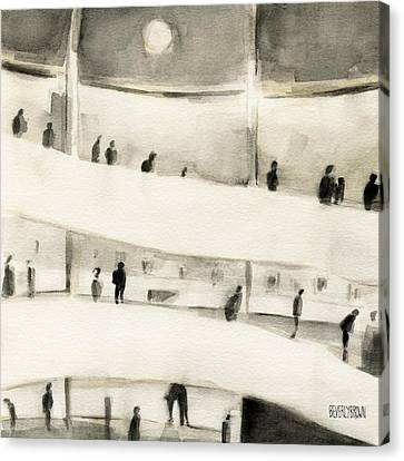 Guggenheim Inside Canvas Print by Beverly Brown Prints