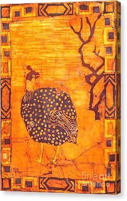 Guinea Fowl Canvas Print by Caroline Street