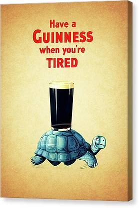 Guinness When You're Tired Canvas Print by Mark Rogan