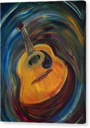 Guitar Canvas Print by Clemens Greis