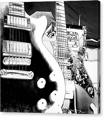 Guitar Duo Canvas Print by David Patterson