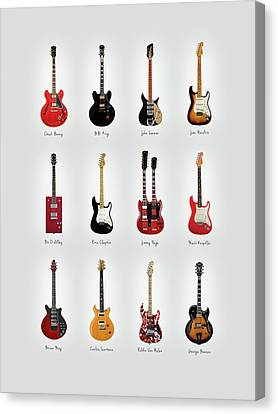 Guitar Icons No1 Canvas Print by Mark Rogan