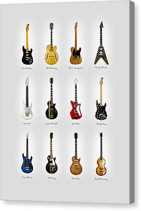 Guitar Icons No2 Canvas Print by Mark Rogan