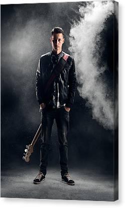Guitarist Canvas Print by Johan Swanepoel