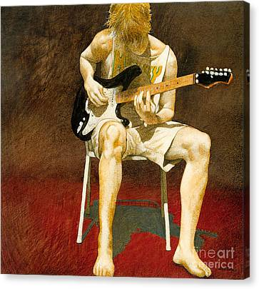 Guitarman... Canvas Print by Will Bullas