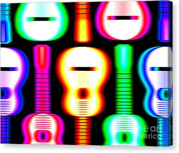 Guitars On Fire 4 Canvas Print by Andy Smy