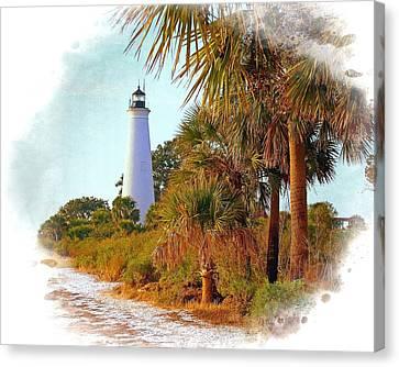 Gulf Coast Lighthouse 1 Canvas Print by Marty Koch