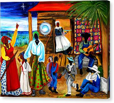 Gullah Christmas Canvas Print by Diane Britton Dunham
