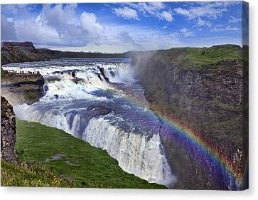Gullfoss Iceland Canvas Print by Wendy White