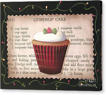 Gumdrop Cupcake Canvas Print by Catherine Holman