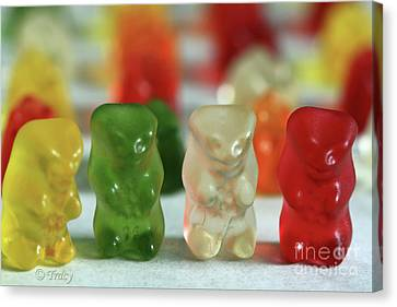 Gummy Bear Meeting Canvas Print by Tracy  Hall