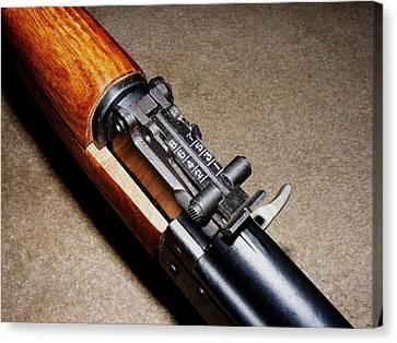 Gun - Sks - Close-up Canvas Print by Anastasiya Malakhova