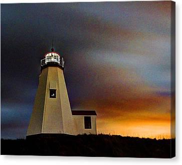 Gurnet Light 002 Canvas Print by Jeff Stallard