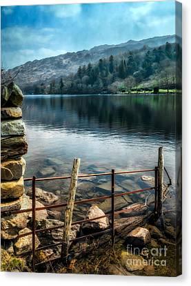 Gwynant Lake Canvas Print by Adrian Evans