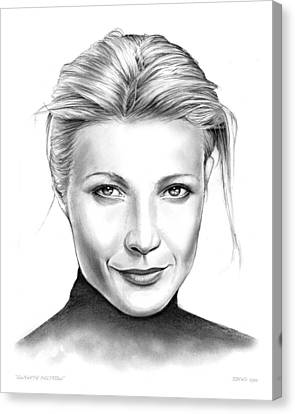 Gwyneth Paltrow Canvas Print by Greg Joens