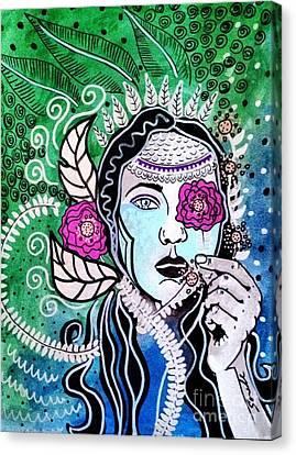 Gypsy Mary Canvas Print by Amy Sorrell