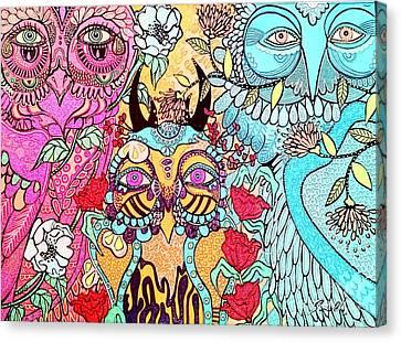 Gypsy Owl Canvas Print by Amy Sorrell