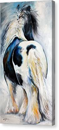 Gypsy Vanner Modern Abstract Canvas Print by Marcia Baldwin
