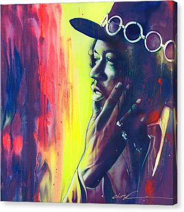 'gyspy Sun And Rainbows' Canvas Print by Christian Chapman Art
