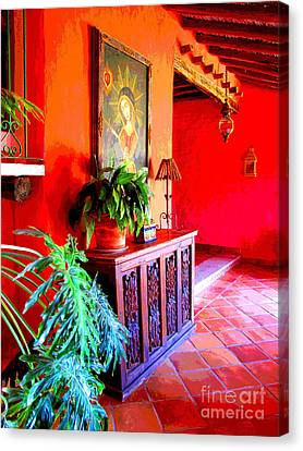 Hacienda By Darian Day Canvas Print by Mexicolors Art Photography