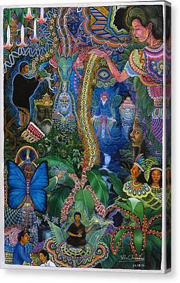 Hada De Pero Nuga Canvas Print by Pablo Amaringo