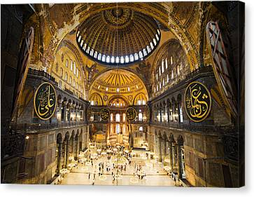 Hagia Sophia Interior Canvas Print by Artur Bogacki