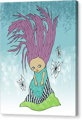 Hair Is A Tree Canvas Print by Lindsey Cormier