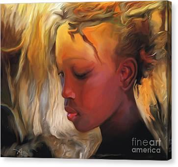 Haitian Beauty Canvas Print by Bob Salo