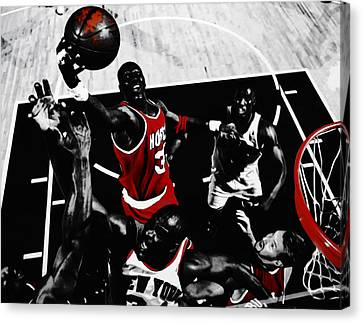 Hakeem Olajuwon Gimme Dat Canvas Print by Brian Reaves