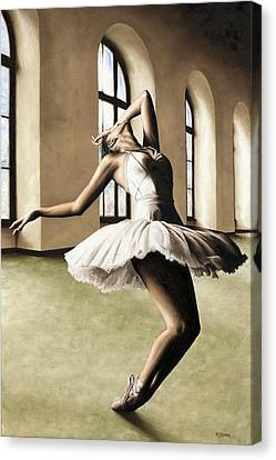 Halcyon Ballerina Canvas Print by Richard Young