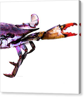 Half Crab - The Right Side Canvas Print by Sharon Cummings