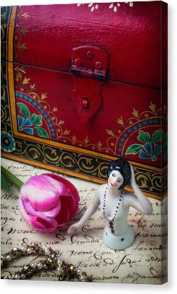 Half Doll With Red Chest Canvas Print by Garry Gay