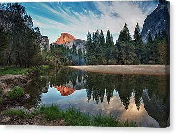 Half Dome And  Merced Canvas Print by Mimi Ditchie Photography