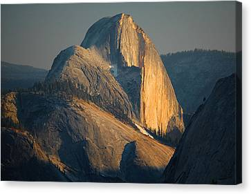 Half Dome At Sunset - Yosemite Canvas Print by Stephen  Vecchiotti