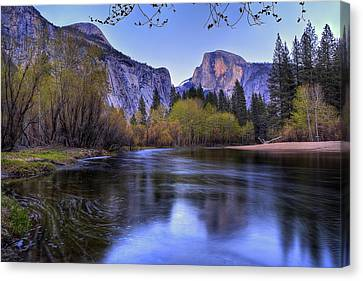 Half Dome Near Sunset Canvas Print by Jim Dohms
