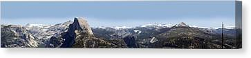 Half Dome Panorama Canvas Print by Bransen Devey