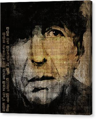 Hallelujah Leonard Cohen Canvas Print by Paul Lovering