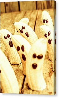 Halloween Banana Ghosts Canvas Print by Jorgo Photography - Wall Art Gallery