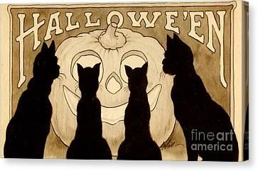 Halloween Card Canvas Print by American School