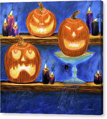 Halloween Display Canvas Print by Ken Figurski