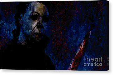 Halloween Michael Myers Signed Prints Available At Laartwork.com Coupon Code Kodak Canvas Print by Leon Jimenez